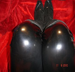 Latex rubber pvc shiny dress catsuit boot  black women fetish fetishgirl (ARABELLLLA1) Tags: red black boot women shiny dress rubber latex catsuit pvc