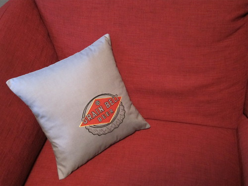 #165 - Grain Belt Beer Pillow
