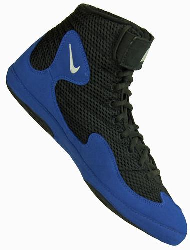 super popular 6eb74 f06ef Wrestling Shoes Nike Inflict Black Royal Blue View 6