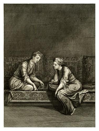 023-Jovenes turcas jugando al Mangala-Recueil de cent estampes…1714- M. Le Hay