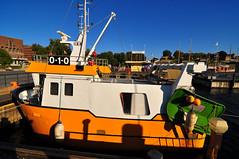 Shrimp Trawler (stigkk) Tags: city orange color colour water oslo boat harbour shrimp docked scandinavia havn waterside bt reker trwaler nikond90 norgenorwaynorwegen reketrler tokina1116mmf28 stigkk