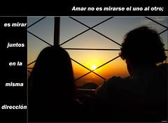 Love is looking in the same direction (AITANA64) Tags: sunset sky sun love sol atardecer silueta amar direccion olympuse510 aitana64