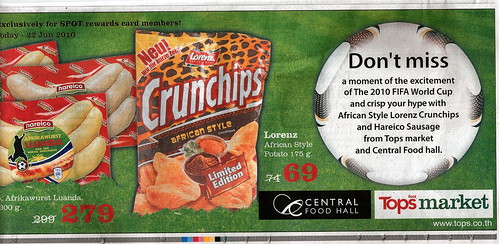 """African Style,"" ""Limited Edition"" Crunchips potato chips"