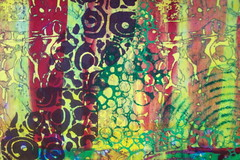 Multiple Revised Piece-closeup 2 (jeanneaird) Tags: artquilt deconstructedsilkscreen fabricsilkscreen