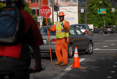 Flagger at Broadway Williams-6