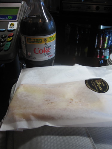 pastry and Diet Coke at bus station (free - per diem)
