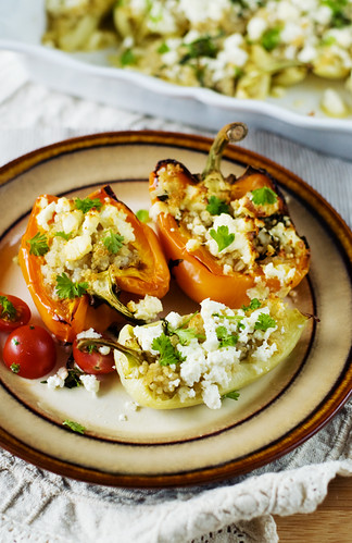 Buckwheat and quinoa stuffed peppers