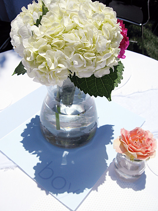 hydrangeas+roses+its a boy+baby shower decor ideas -1