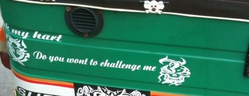 Do you want to challenge me