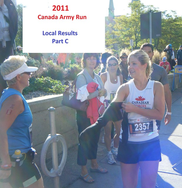 Canada Army Run 2011: local results (Part C)