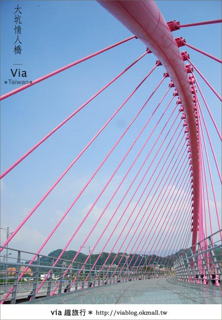 【大坑情人橋】新的台中約會景點~浪漫粉紅色情人橋17