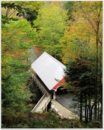 Fall 2010 Flume Franconia Covered Bridge
