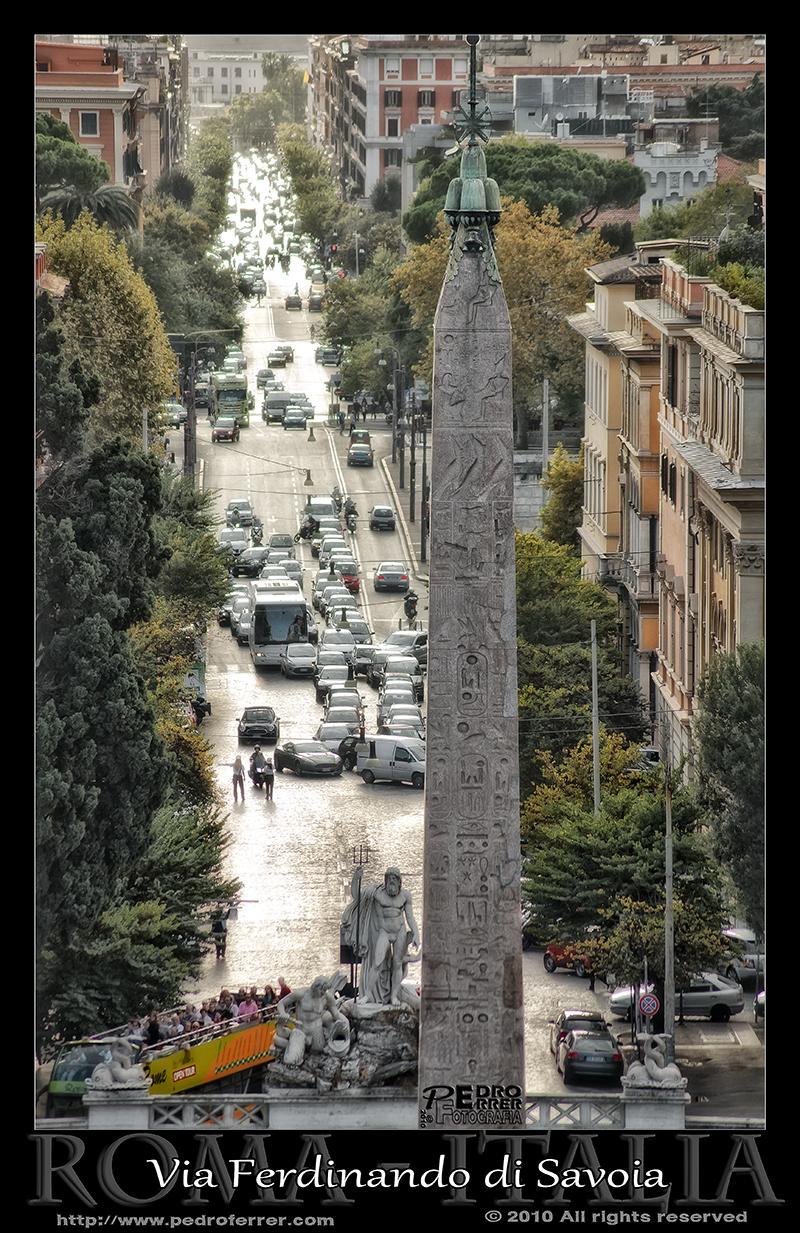 Roma - Piazza del Popolo - Obelisco Flamineo