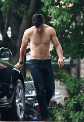 Taylor Lautner (leviladz) Tags: blue gay boy guy cowboy diesel wranglers hunk jeans taylor topless levi levis strauss lautner 501s redtab wetladz levilad leviladz wetladsin501s