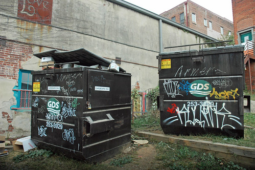 On the streets of Ashvegas: Graffiti garbage bins