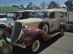 1934 Terraplane ambulance (sv1ambo) Tags: classic creek transport sydney australia ambulance queensland hudson amc eastern 2009 1934 brigade shannons terraplane raceway qatb