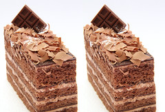 IMG_5511 chocolate cake (parallel 3D) (yoshing_BT) Tags: cake stereophoto stereophotography 3d chocolate stereo stereoview stereograph parallel torta cioccolato    ikolata parallelview  parallel3d