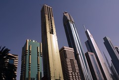 This is Dubai (qatari star) Tags: road sky star dubai gulf towers uae palm emirates arab 2010        qatari marri