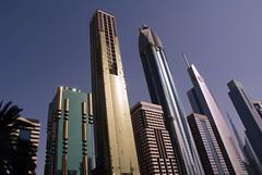 This is Dubai (qatari star) Tags: road sky star dubai gulf towers uae palm emirates arab 2010        qatari marri