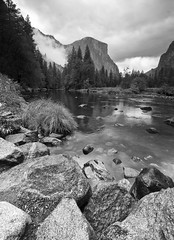 Merced River Vista 2 (B&W)