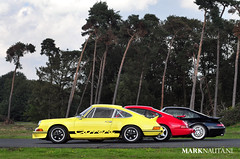 Porsche 911 Carrera RS, 964 RS, 993 RS (marknauta.nl) Tags: red black colors yellow germany nikon forrest mark 911 porsche rs carrera airfield airbase weeze 80200 993 964 niederrhein d300 200mm ducktail leichtbau nauta clubsport leightweight rennsport marknautanl