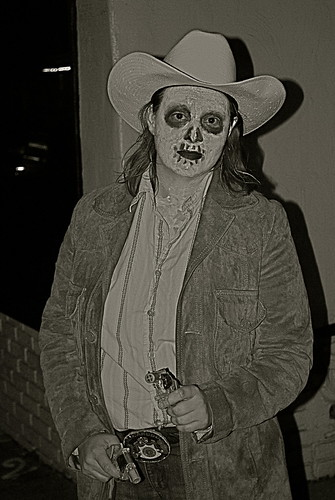Skeleton cowboy costume - photo#22