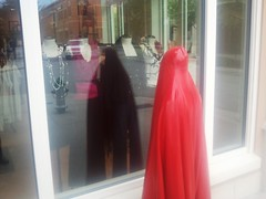 Nice Jackets...but no hoods? (latexladyll) Tags: public fetish shopping rubber latex burqa