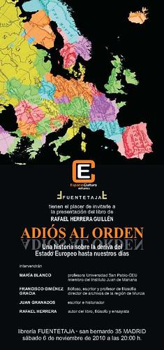 Presentacion ADIOS AL ORDEN