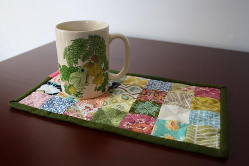 Mug rug + favorite mug