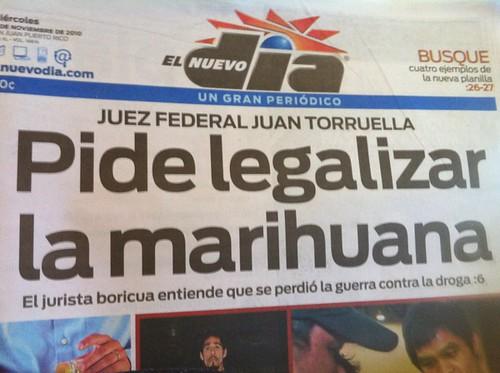primera Plana - pide legalizar la marihuana en Puerto Rico