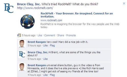 RockMelt BCI Facebook