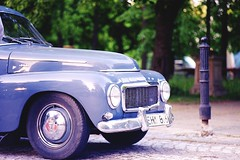 Classic Cars - PV544 (Analog World Thru My Lenses) Tags: nikonfa nikkor100mmf28seriese kodakektar100 claccis cars classiccarsclassicclassiccars classiccars oldtimer vintage volvo pv544