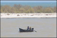 Fishermen in the Danube Delta (John R Chandler) Tags: boat danube danubecruise danubedelta deltadunarii river romania rowingboat rumania saintgeorge sfântugheorghe județultulcea ro