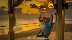 Sunset in Seminyak (The Happy Traveller) Tags: seminyak bali sunrisesunset sunset indonesia beautifulbeach beach