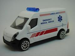 MAJORETTE RENAULT MASTER NO5 EMERGENCY MEDICAL SERVICE 1/64 (ambassador84 OVER 8 MILLION VIEWS. :-)) Tags: majorette renaultmaster ambulance diecast renault