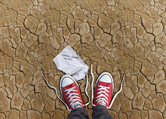 No Denial (YetAnotherLisa) Tags: chucks converse climatechange globalwarming deny denial science atmyfeet fromabove desert cracks hot heat drought