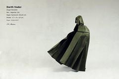 Darth Vader - A. Morollón (valitrenta) Tags: darthvader angel morollon origami guerra galaxia laser espada enemigo padre starwars