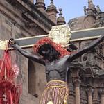 Cusco: Imagen escultórica del Patrón jurado del Cusco: el SEÑOR DE LOS TEMBLORES, venerada escultura que se guarda en los recintos de la Catedral. Representa al Dios Wiraqocha, como divinidad vnculada a los sismos en el mundo Andino