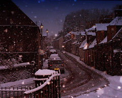 Main Street Dunlop (BoboftheGlen) Tags: christmas snow lights scotland village dunlop ayrshire