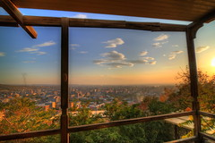 Beautiful view from a cafe /     (Seroujo) Tags: panorama beautiful golden cafe cityscape view mount hour armenia yerevan hdr masis ararat