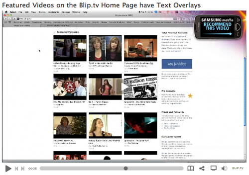 On Blip.tv: Samsung mobile - Recommend This Video
