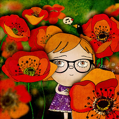 poppies are my 2nd favorite flower (crosti) Tags: red music flower art love girl field collage illustration spring cool calendar yeah mixedmedia christina note poppies ladybug illustrator crow collectors raven item beatnik roberta geeky nerdy 2010 numbered happysad tsevis crosti