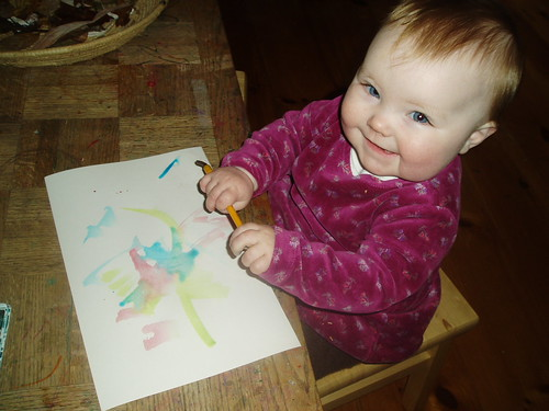 Lucy's first painting