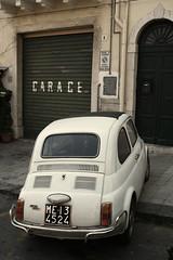 Retro (Giacomo Carena) Tags: street strada fiat garage retro via 500 taormina sicilia messina