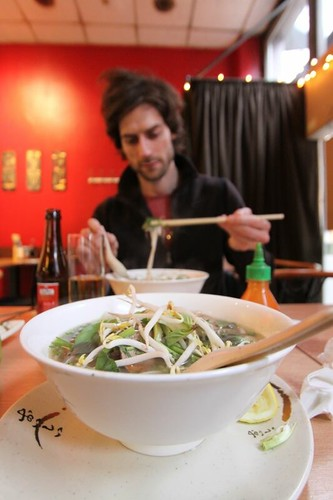 Pabs eating Vietnamese in Brussels