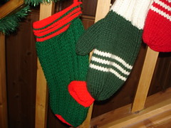 Stocking and Mitten green
