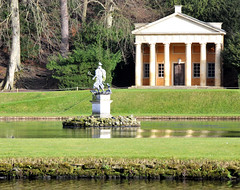 Neptune  in the Moon Pond (keithhull) Tags: england building historic explore classical neptune northyorkshire studleyroyal eighteenthcentury templeofpiety moonpond explorewinnersoftheworld seeninexplore612010361