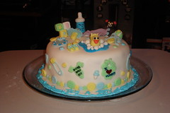 1ST BABY SHOWER CAKE (CreatEve Cake Designs) Tags: flowers winter summer baby fall halloween sports animals basketball cake easter hearts shower spring construction strawberry nemo evelyn baseball valentines christening monkeys cubes fondant shortcake hicks plex muno foofa yogabbagabba spiider toodee brobee