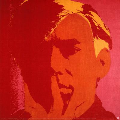 Orange Warhol Print