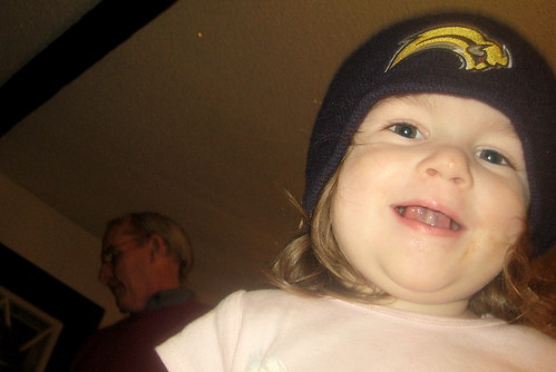 Rebekah in a Sabres hat (2)